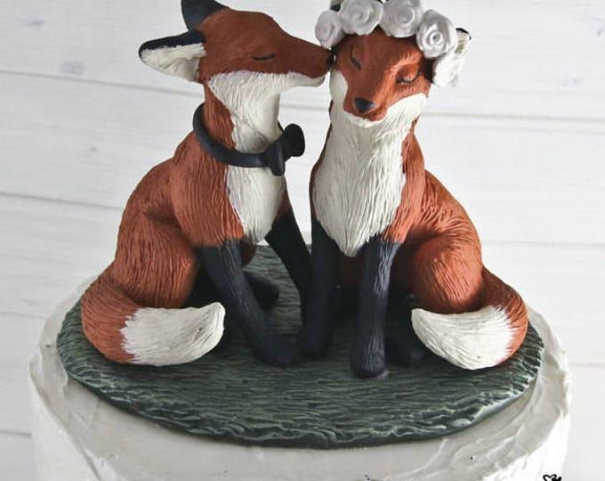 Realistic Fox Wedding Cake Topper