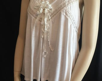 Women's shabby top, women's top, women's shabby chic, women's tank top, shabby cottage, shabby tunics, tunic tops, french chic