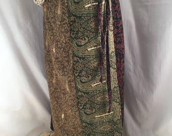 Womens vintage skirts, womens skirts, vintage skirts, womens vintage, wrap skirts, boho bohemian clothing, beaded skirts