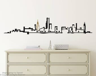 Chicago Skyline Wall Vinyl Decal