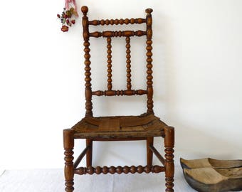 RARE 1840 French Antique Child Chair - French Antique Furniture - French Wood France - Antique chair