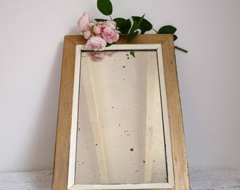 French Vintage Mirror - Shabby chic and romantic mirror - Romantic Mirror - Shabby Mirror - distressed Mirror