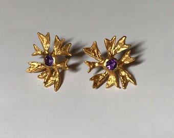 maple flower earrings