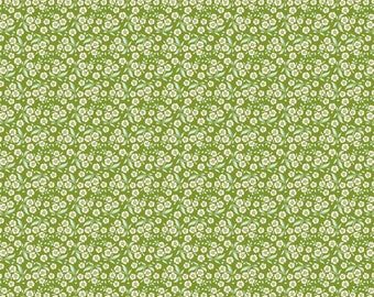 In the USA Tilda Circus - Forget Me Not in Green Half Yard