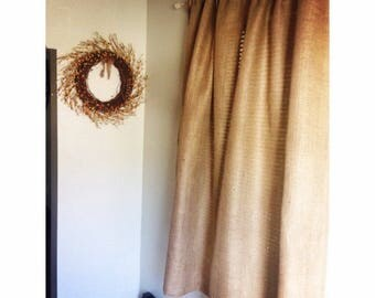 Burlap Curtains Reserved for Alisha