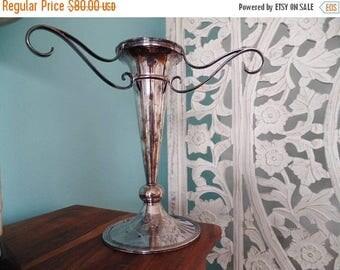 30% OFF SALE WALKER Hall Sheffield Silver Plate Vase Vintage Home Decor
