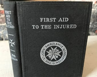 Vintage Medical St Johns Ambulance First Aid Book