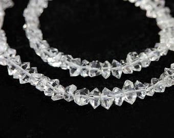 Herkimer Diamond Crystal Beads 4 Double Terminated Herkimer Diamond Crystal Clear Semi Precious Gemstones