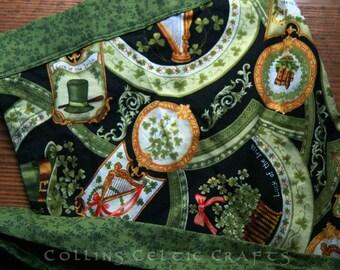 Skirt apron green and Irish print one size