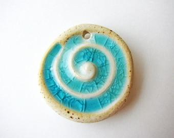 Sea Spiral Pendant Stoneware Clay