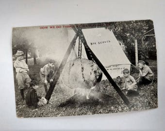 antique Post Card - 1912 Boy Scouts - Alfred Stanley Johnson