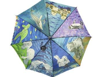Aquatic Patchwork Umbrella