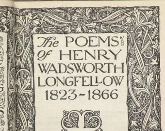 Longfellow poetry book The Poems of Henry Wadsworth Longfellow