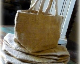 ON SALE Burlap Bag with Handle  Favor Bags Gift Bag  DIY Party
