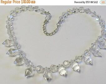 Vintage Crystal Prism Glass Necklace