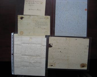 Antique Letters (4) From The Early 1800's