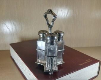 Vintage Salt/Pepper/Sugar Shaker Set-Sterling Silver