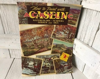 Vintage book How to Paint with Casein Acrylic art instruction Walter Foster 1950s- free shipping US