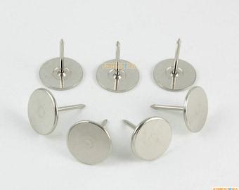 50Pcs Silver Upholstery Tacks Nails 15x18mm (TN73)