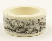 sled dog - Japanese Washi Masking Tape - 20mm wide - 11 yard - no discount
