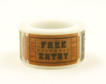 Free Entry - Japanese Washi Masking Tape - 20mm wide - 5.5 yard