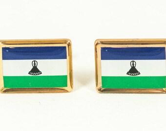 Lesotho Flag Cufflinks