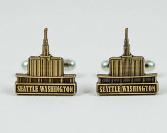 Seattle Washington Temple Cufflinks