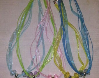 Necklaces with Disney Princess Charm pendant and European Beads, 13 Options