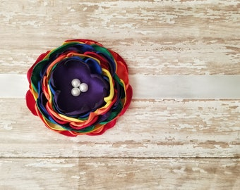 Rainbow baby maternity sash maternity belt