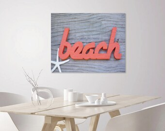 Beach Decor Nautical | Coastal Photo Art Print | Word Art Print | Nautical Wall Decor | Coastal Decor | Coastal Wall Decor | Photo Wall Art