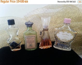 On Sale Vintage Perfume Bottles Set of 4 * Vintage Perfume Collection * 1960's Collectible Mad Men Mod Mid Century * Hollywood Regency Vanit