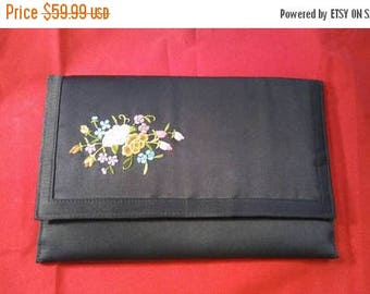 On Sale Black High End Collectible Clutch Purse - 1960's Walborg Handbag - Designer Signed Black Satin Style Bag - Made In Macau