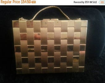 On Sale Collectible compact purse and cigarette case combination lipstick comb Powder mid century assesory