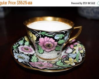 Now On Sale Rosina Bone China Tea Cup & Saucer Set * Made In England * 1930's 1940's Art Deco Home Decor Collectibles
