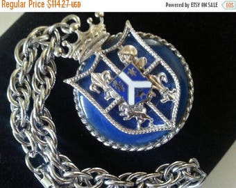 Now On Sale Coro Signed Lion Knight Shield Charm Bracelet, High End Vintage Jewelry, 1950's 1960's, Holiday Gift Idea For Her