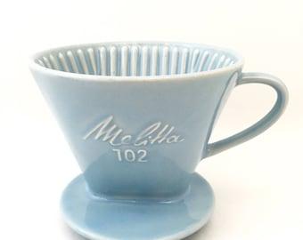 Melitta Coffee Maker - Melitta Single Cup Coffee Press - Vintage Coffee Maker - Melitta 102 Drip Coffee Maker Single Serve Coffee Mug Filter