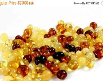 Midsummer sale Baltic Amber Beads 20 gr, Supply Rounded Multicolor