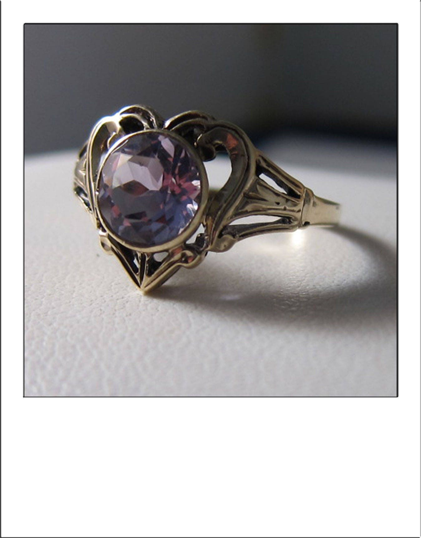 antique victorian 10k yellow gold ct amethyst heart ring. Black Bedroom Furniture Sets. Home Design Ideas