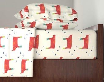 Bedding Sheet Set, Daddy Rhino Design, Includes Fitted Sheet, Flat Sheet, and Pillowcase, Twin, Queen, King Sheet Set
