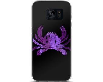 Purple Crab, Baltimore, Seafood, Baltimore Art, Maryland, Crab Art, Black and Purple, Raven Colors, Raven Crab, Samsung Case