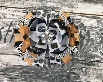 Golden knights bow, Vegas Knights hair bow