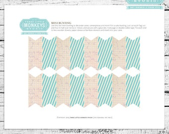 Science Birthday Cake Bunting - Instant Download