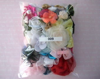 GRAB BAG, Assorted Appliques, Multi Combo for Sewing, Crafting, Scrapbooking Embellishment, Hair Accessories, Doll Clothes, 1 Bag, 2 oz, 009