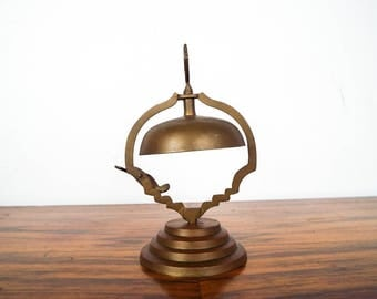 Vintage Metal Bell Hotel Porters Front Desk General Store Counter Service Bells, Playing Country Store Game Decoration, 1920s Home Decor