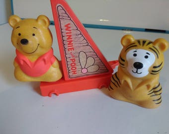Mattel Tuff Stuff Winnie the Pooh and Tigger Figures Blocks 1979 Mattel