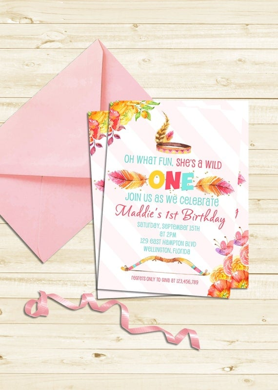 Wild ONE First Birthday Invitation