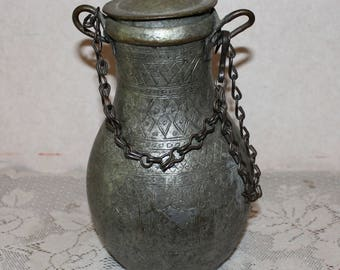 Antique Handmade Large Hanging Thick Copper Water Pitcher Pot Jug