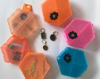 Notions Accessory Stitch Marker Case - Storage for Knitters and Crocheters