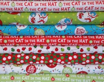 The Cat In The Hat Christmas Bundle from Robert Kaufman - Dr Seuss Fabric - 10 Fabrics