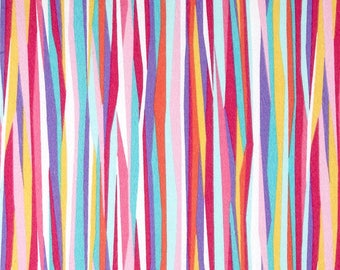 Flannel - Tropical Current Stripes from Michael Miller Fabric's Mer-Mates Flannel Collection - Fish Fabric